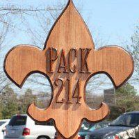 Pack 214 Wooden Sign